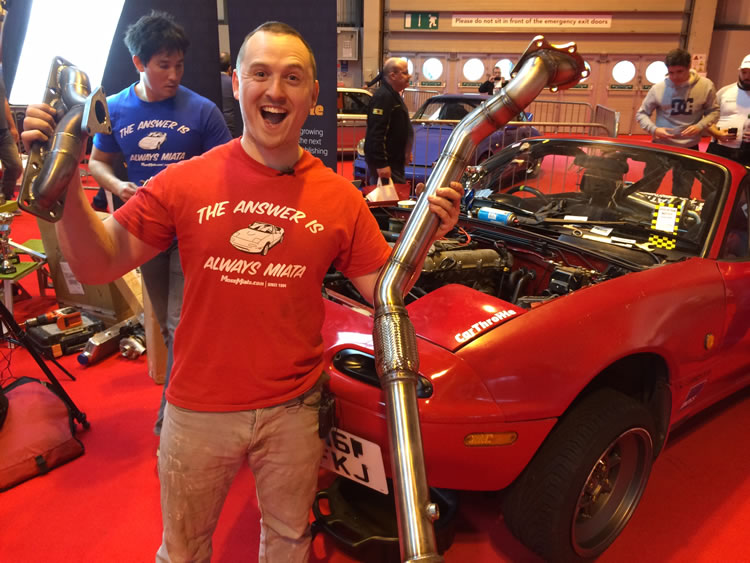 Alex from car throttle at Birmingham NEC
